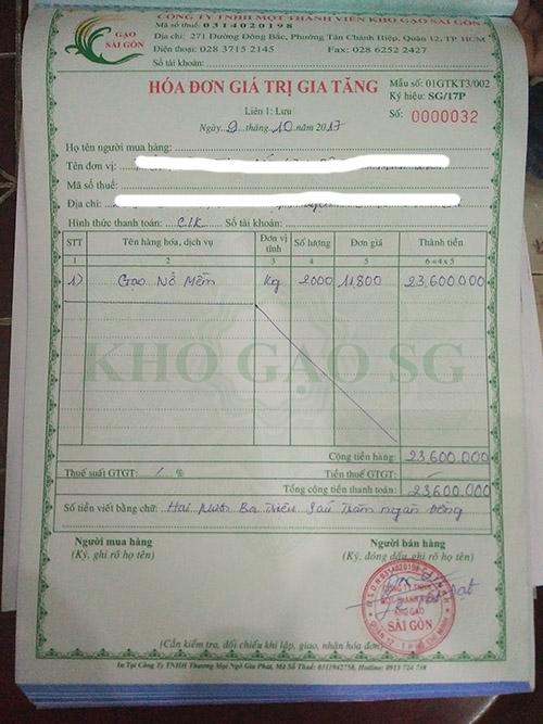 Mẫu hóa đơn VAT